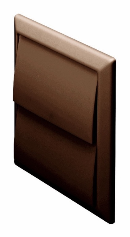 Make Outlet with Gravity Flaps Brown - 100mm