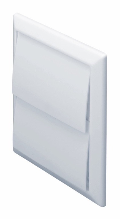 Make Outlet with Gravity Flaps White - 100mm