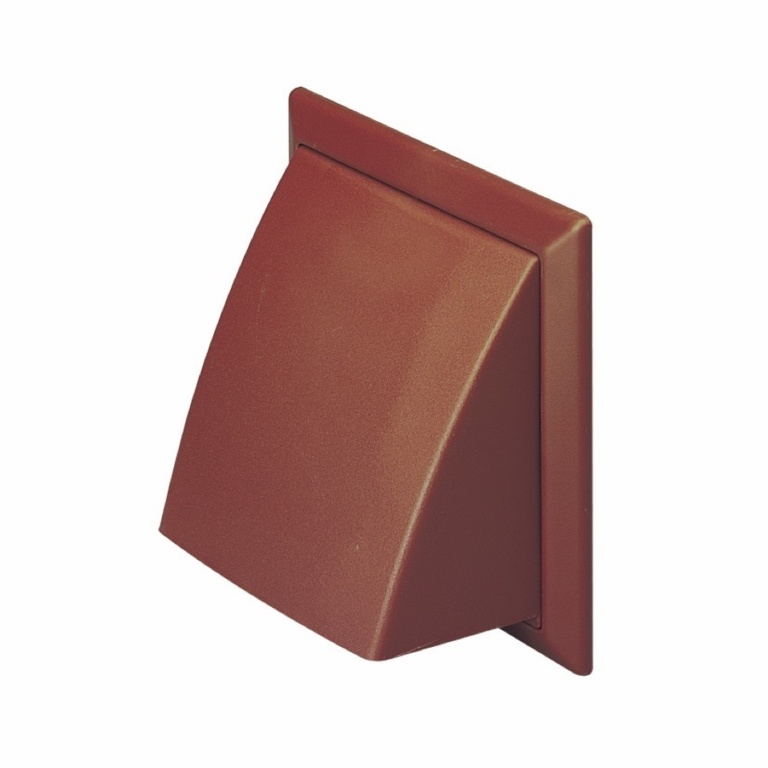 Make Cowled Outlet Brown - 100mm