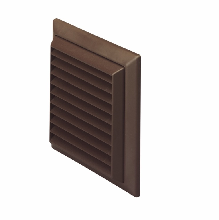 Make Louvered Grille Outlet Brown - 100mm