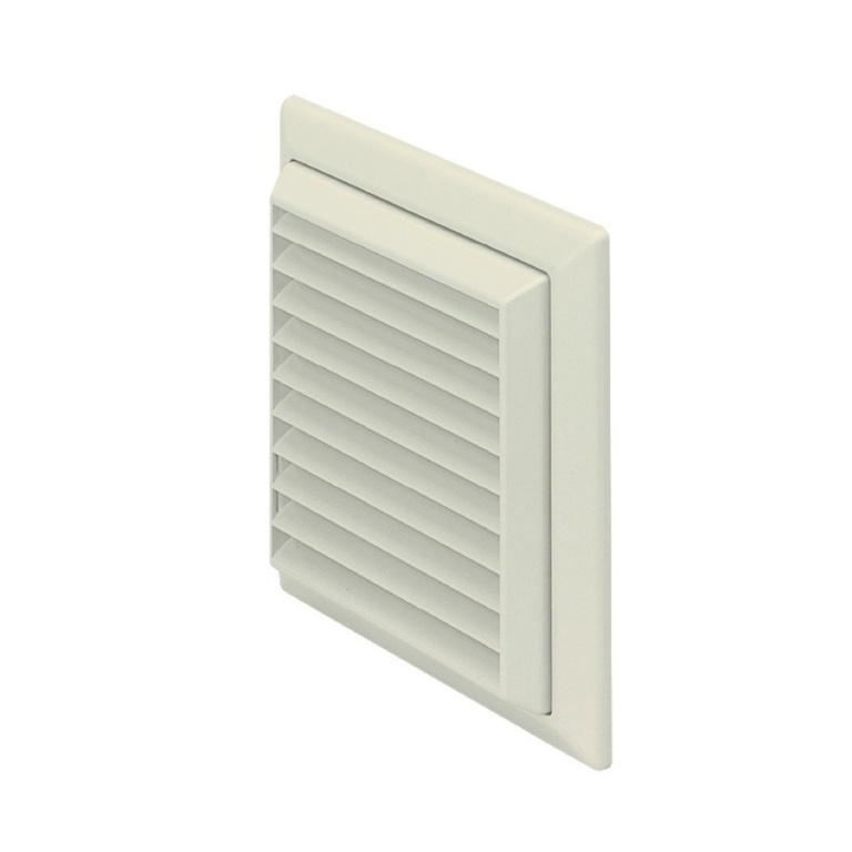 Make Louvered Grille Outlet White - 100mm