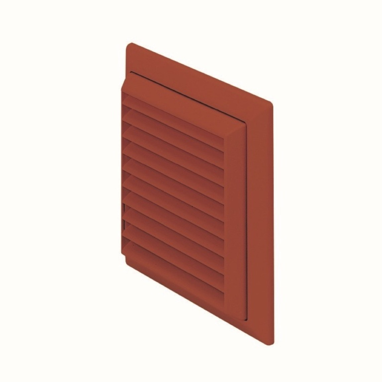 Make Louvered Grille Outlet Terracotta - 100mm