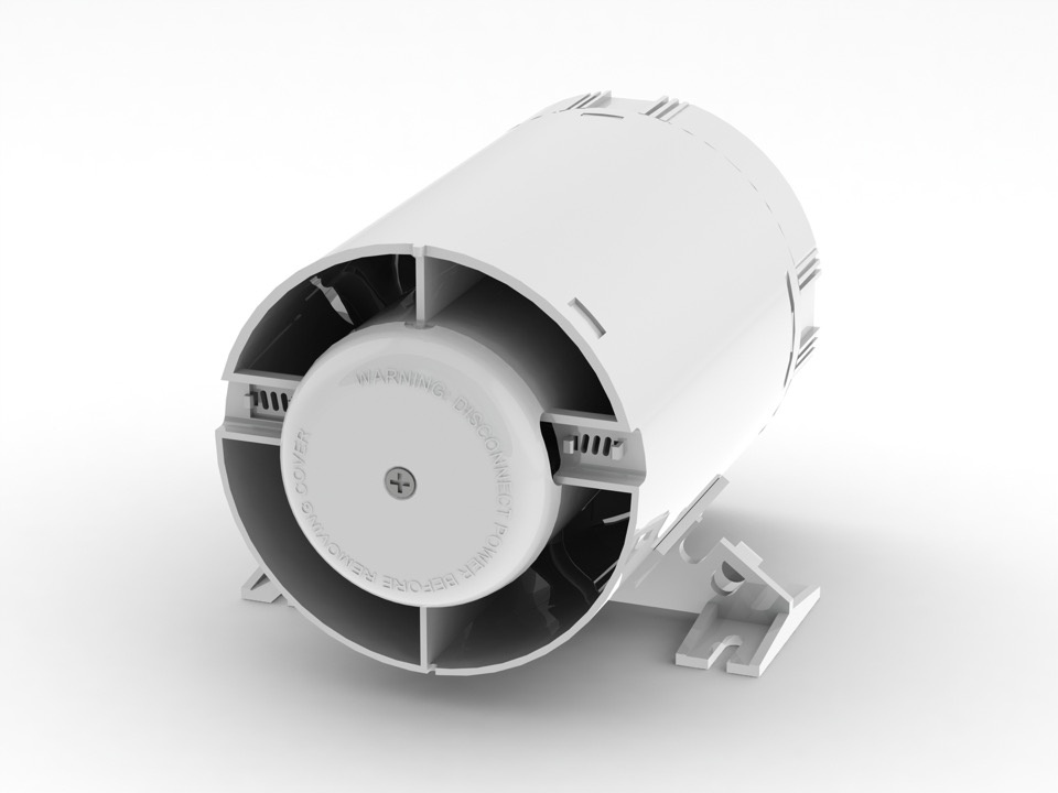 Domus Ventilation Shower Inline with Timer & Ducting - 100mm