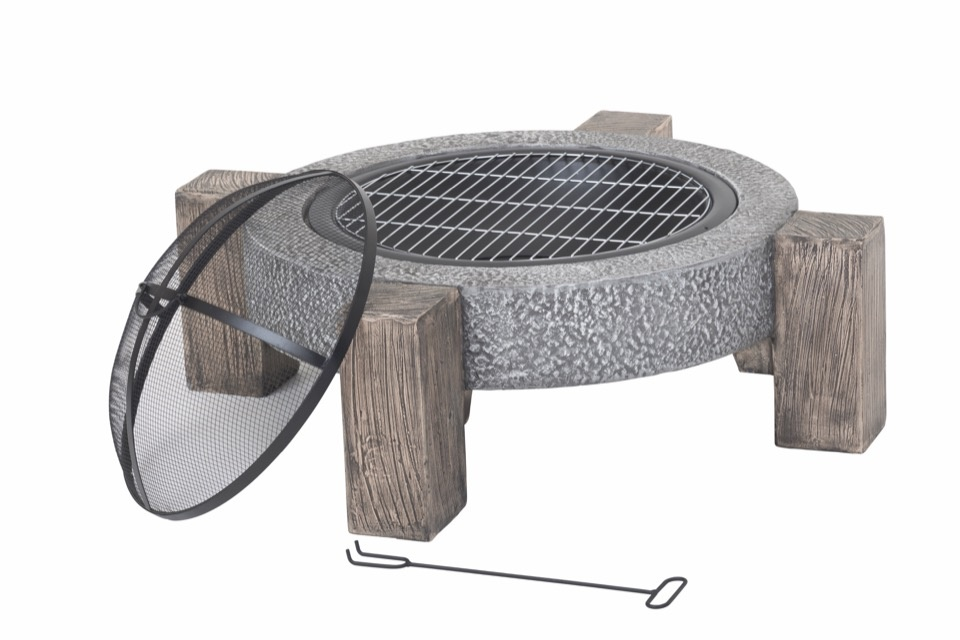 Lifestyle Calida Fire Pit - *MGO Round fire pit with legs