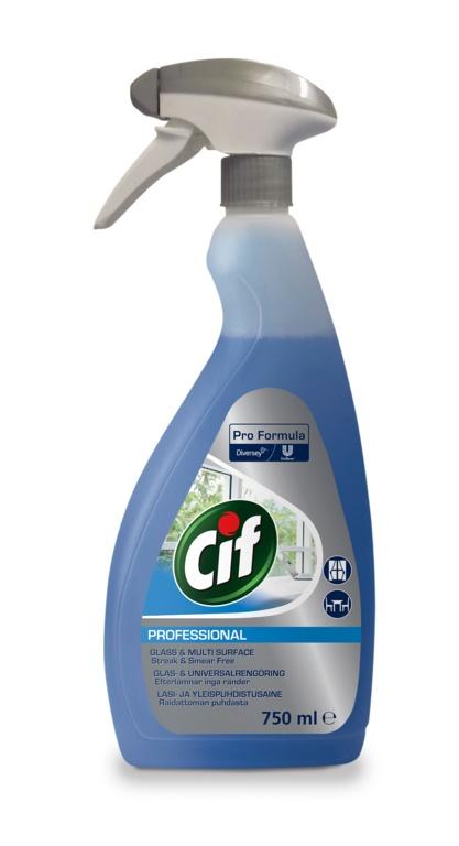 Cif Professional Window Multi Surface - 750ml