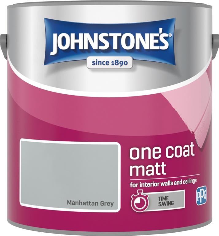Johnstone's One Coat 2.5L - Manhattan Grey