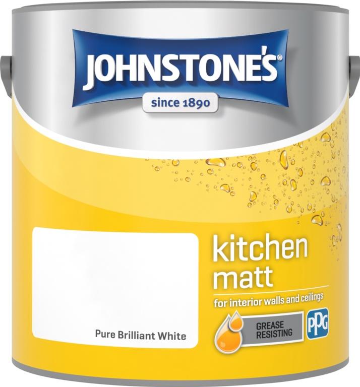 Johnstone's Kitchen Matt 2.5L - Pure Brilliant White