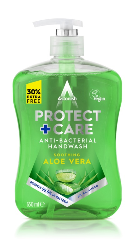 Astonish Protect + Care Antibacterial Handwash Aloe Vera - 650ml