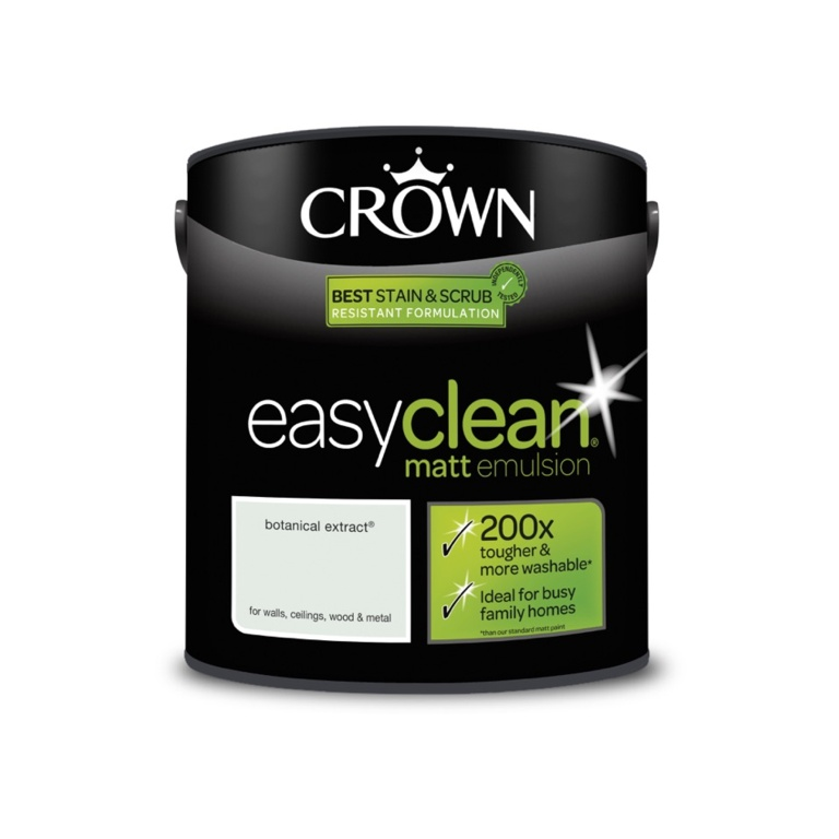 Crown Easyclean Matt Emulsion - 2.5L Botanical Extract