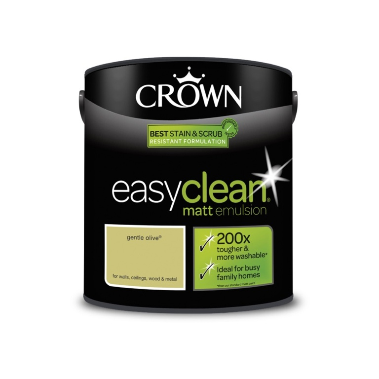 Crown Easyclean Matt Emulsion - 2.5L Gentle Olive