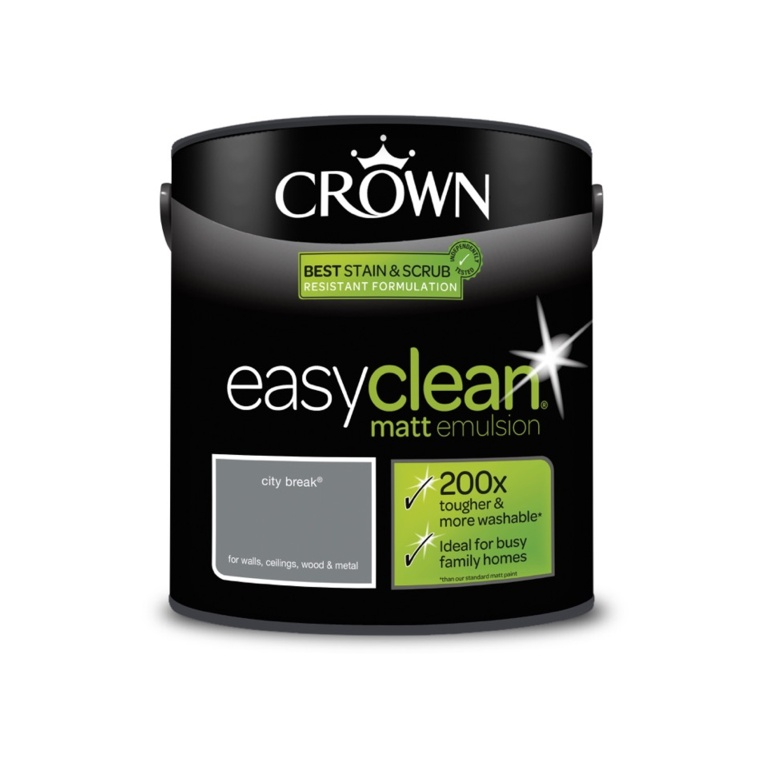 Crown Easyclean Matt Emulsion - 2.5L City Break