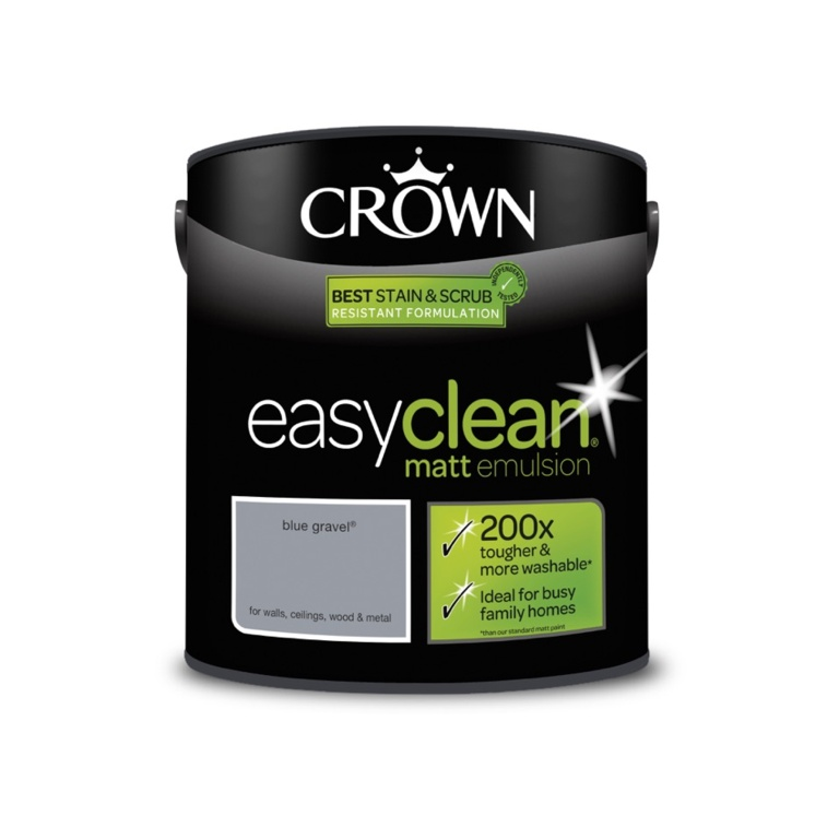 Crown Easyclean Matt Emulsion - 2.5L Blue Gravel