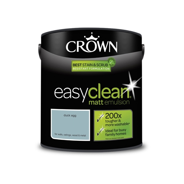 Crown Easyclean Matt Emulsion - 2.5L Duck Egg