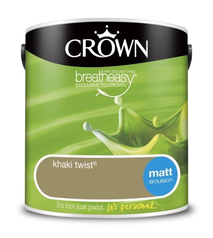 Crown Matt Emulsion - 2.5L Khaki Twist