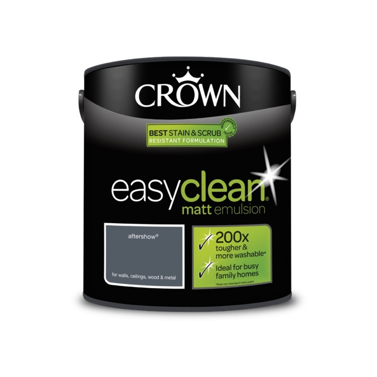 Crown Easyclean Matt Emulsion - 2.5L Aftershow