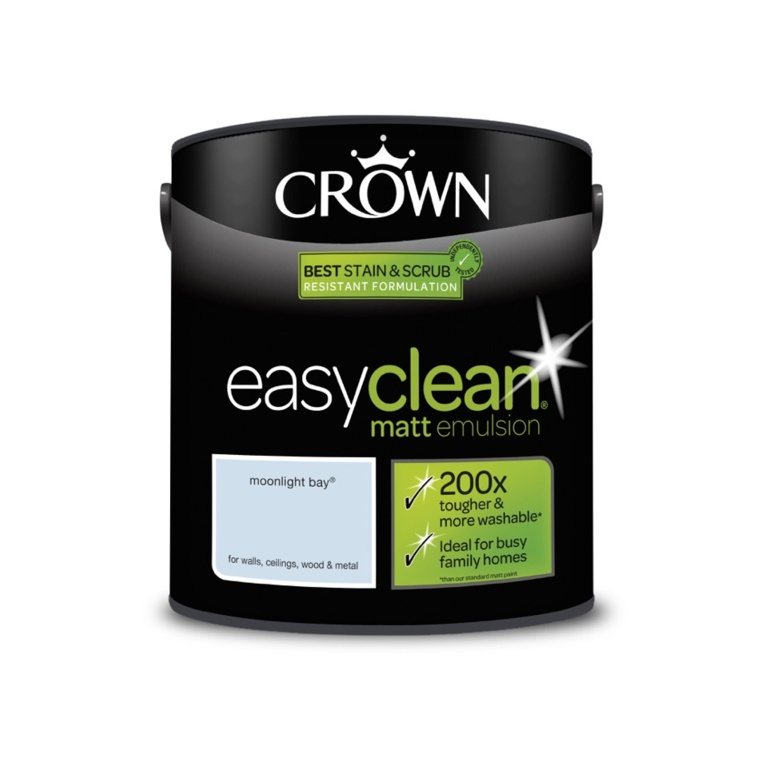 Crown Easyclean Matt Emulsion - 2.5L Moonlight Bay