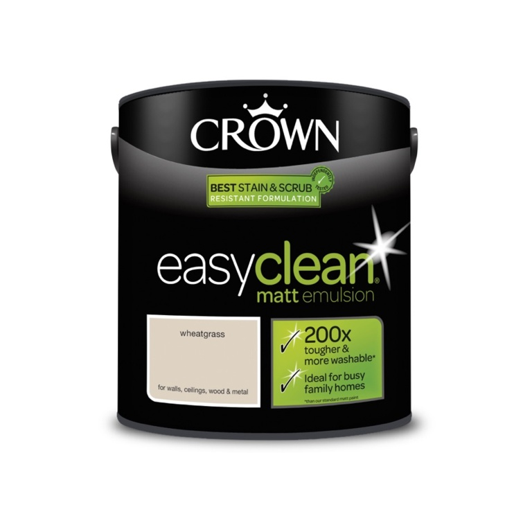 Crown Easyclean Matt Emulsion - 2.5L Wheatgrass
