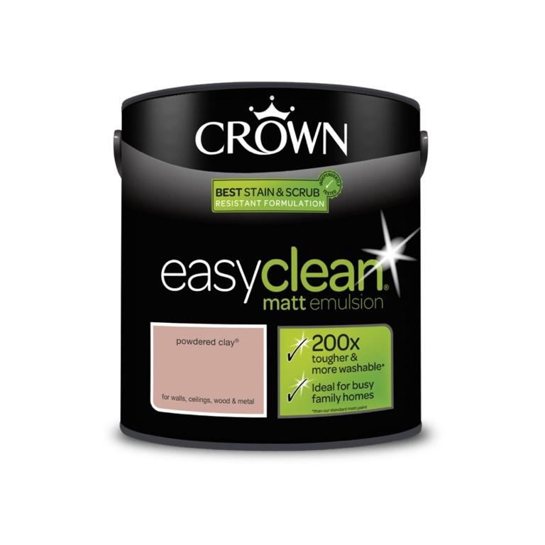 Crown Easyclean Matt Emulsion - 2.5L Powdered Clay