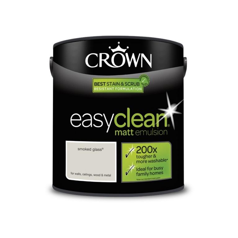 Crown Easyclean Matt Emulsion - 2.5L Smoked Glass