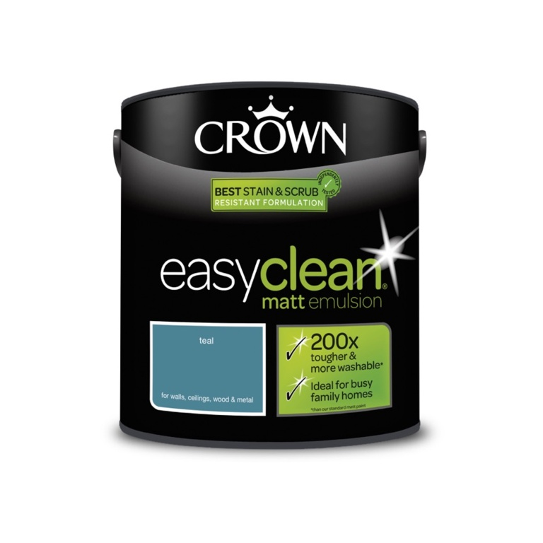 Crown Easyclean Matt Emulsion - 2.5L Teal