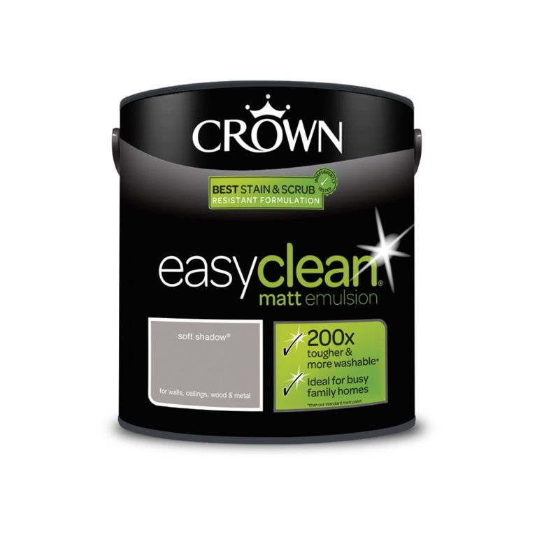 Crown Easyclean Matt Emulsion - 2.5L Soft Shadow