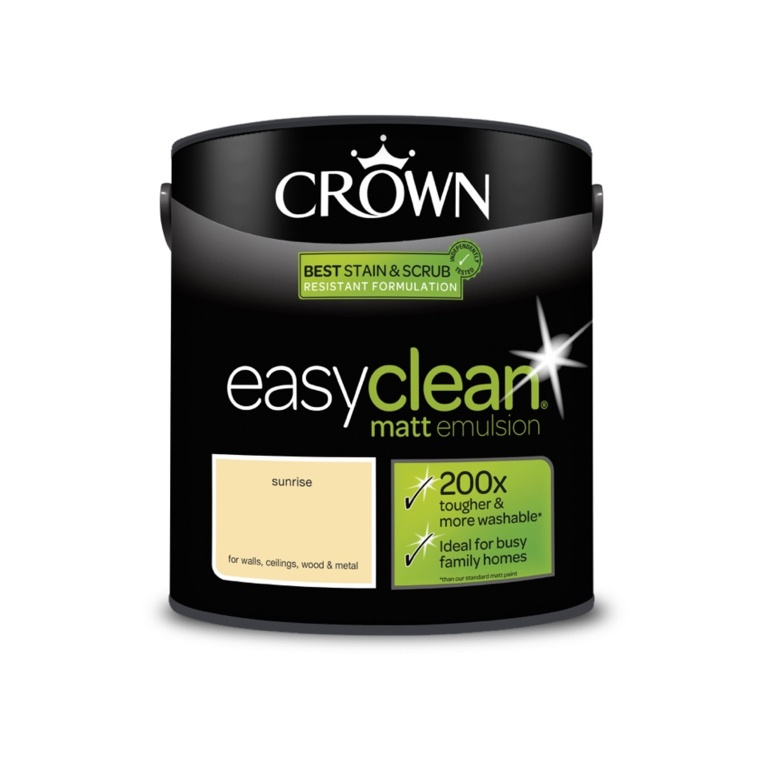 Crown Easyclean Matt Emulsion - 2.5L Sunrise