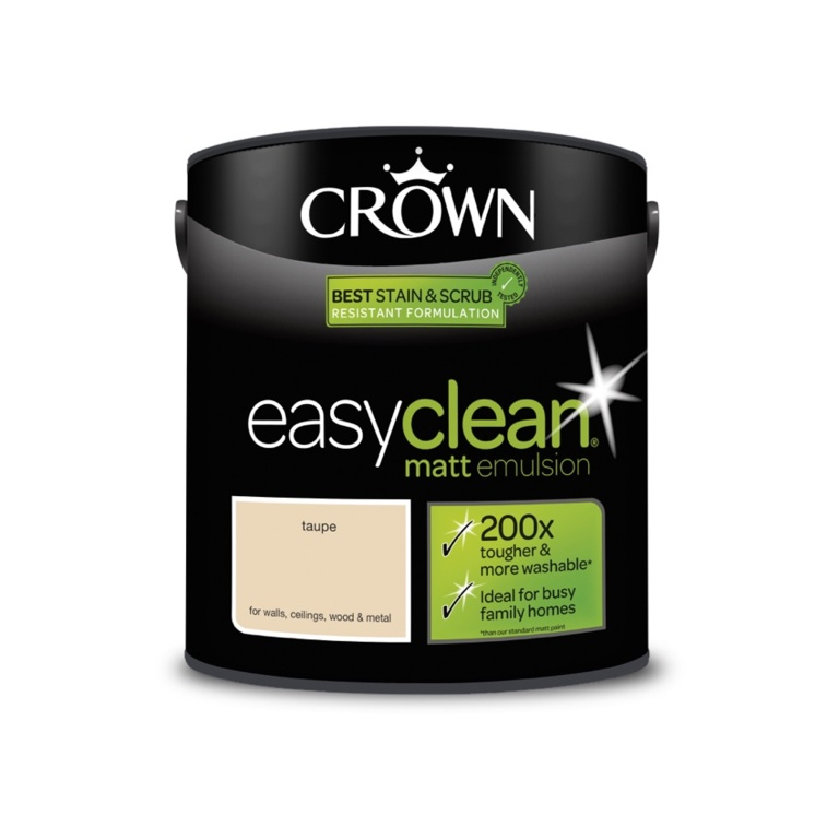 Crown Easyclean Matt Emulsion - 2.5L Taupe