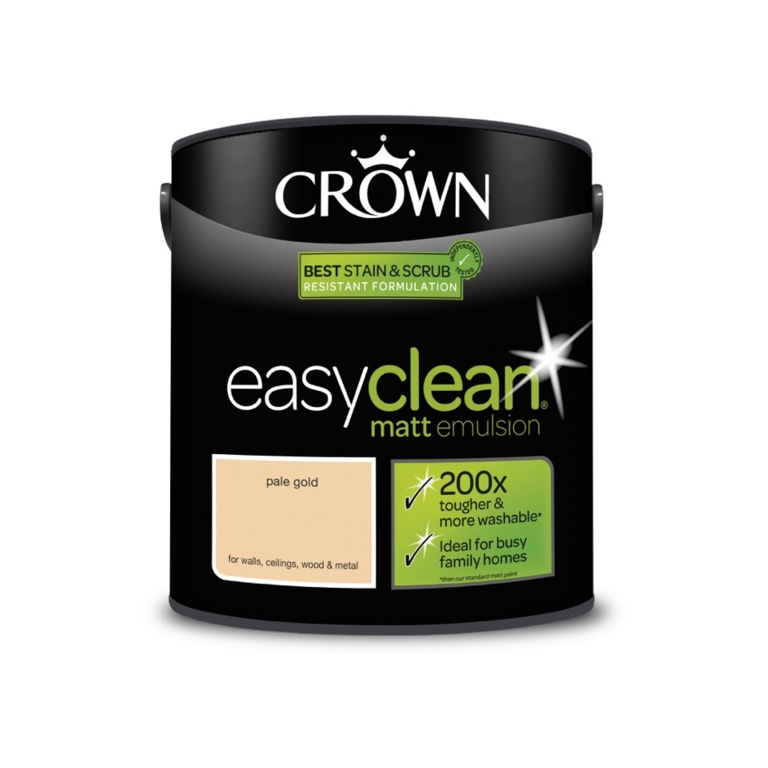 Crown Easyclean Matt Emulsion - 2.5L Pale Gold
