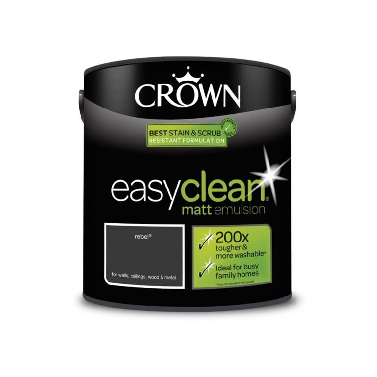 Crown Easyclean Matt Emulsion - 2.5L Rebel