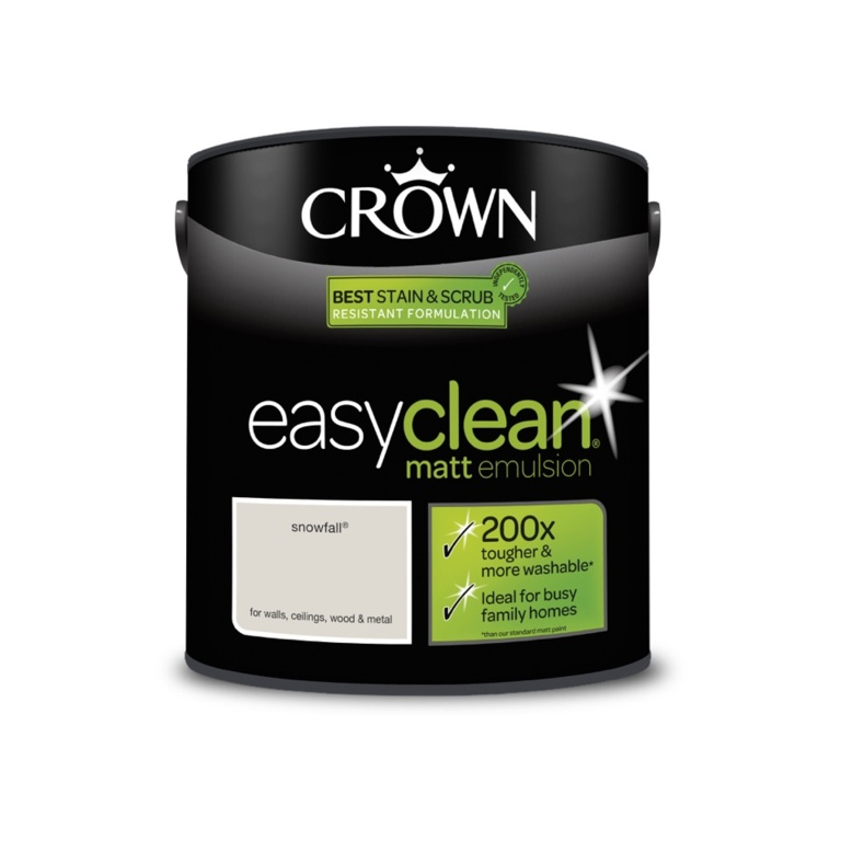 Crown Easyclean Matt Emulsion - 2.5L Snowfall