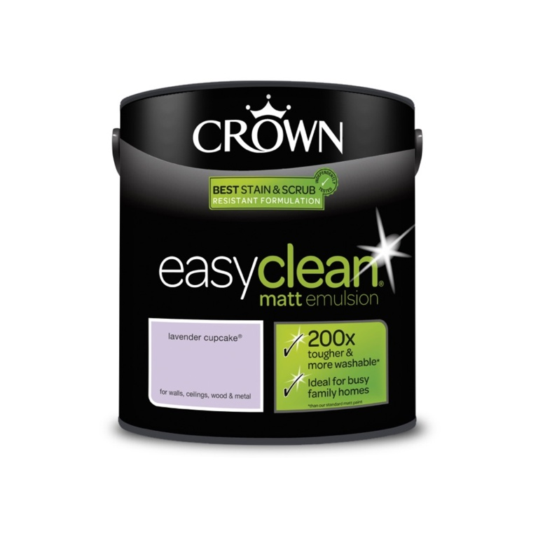 Crown Easyclean Matt Emulsion - 2.5L Lavender Cupcake