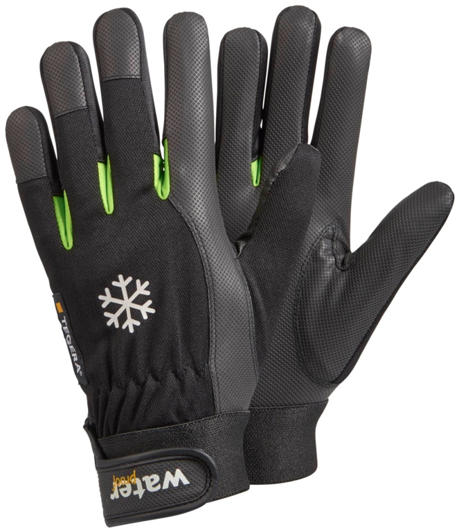 Tegera Synthetic Leather Winter Lined Glove - Size 6