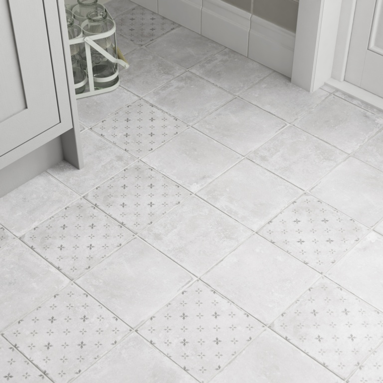 Johnson Savoy Floor Tile 1.02m2 - Grey