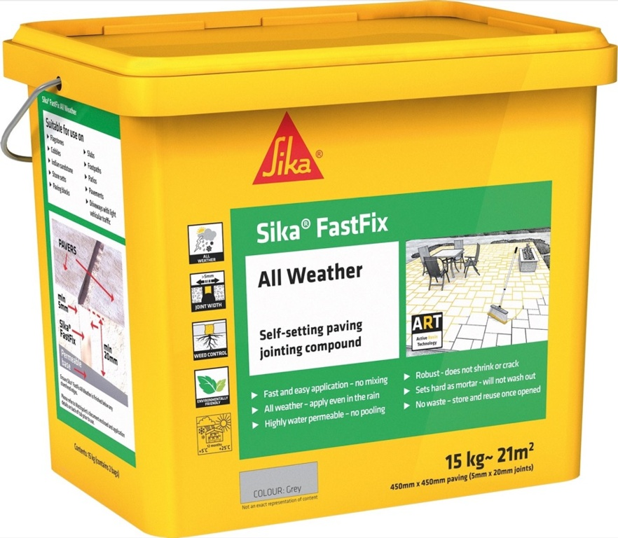 Sika Fastfix All Weather Jointing Compound - Grey - 14kg