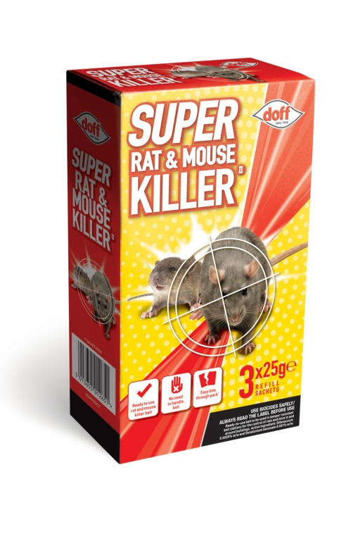 Doff Super Rat & Mouse Killer Refill - 3 x 25g