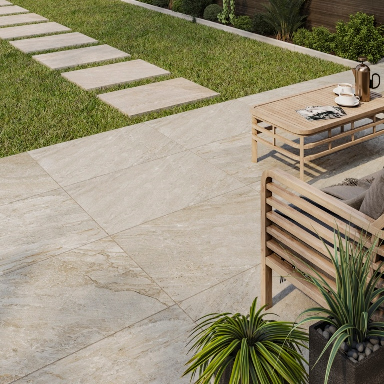 Verona Barrington Beige Outdoor Porcelain Tile 600 x 900 x 20mm - 1.08m2