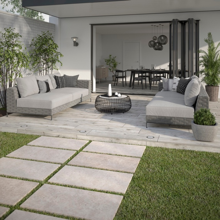 Verona Hampton Beige Outdoor Porcelain Tile 450 x 900 x 20mm - 0.81m2