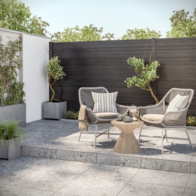 Verona Claremont Grey Outdoor Porcelain Tile 600 x 600 x 20mm - 0.72m2