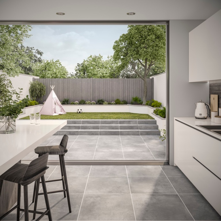 Verona Tatton Grey Outdoor Tile 600 x 600 x 20mm - 0.72m2