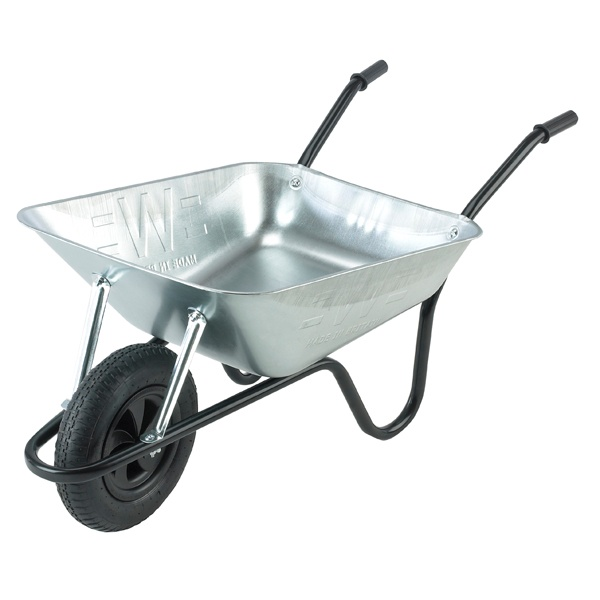 Walsall Wheelbarrow Easi-Load Galvanised Barrow - 85L