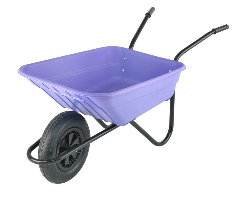 Walsall Wheelbarrow The Shire Lilac Poly Barrow - 90L
