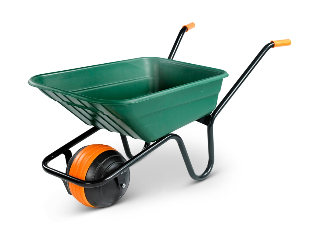 Walsall Wheelbarrow Duraball Poly Barrow 90L - Green