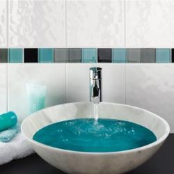 Johnson Tiles Cristal Bumpy White Wall Tile