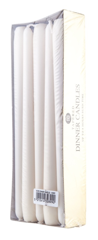 Prices Dinner Candles Pack 10 - Ivory