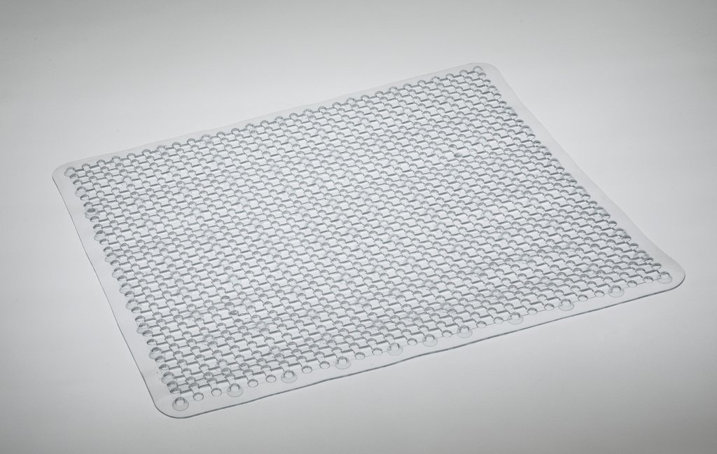 Blue Canyon Grid Shower Mat - 53x53 Clear