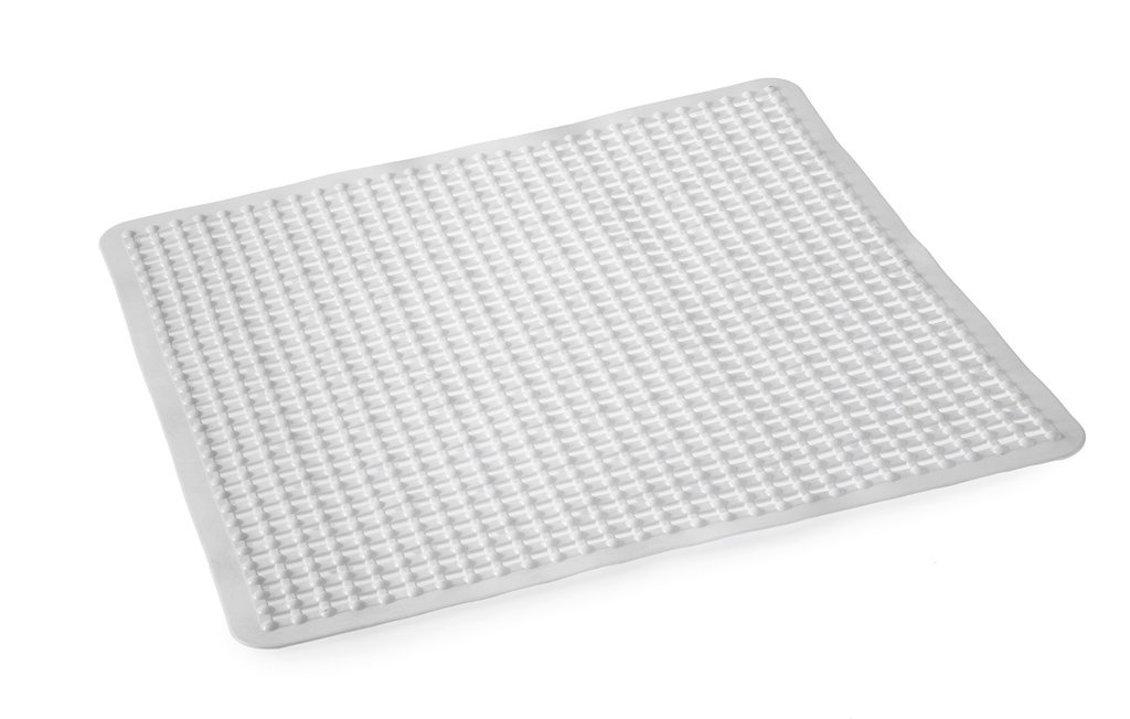 Blue Canyon Grid Shower Mat - 53x53 White