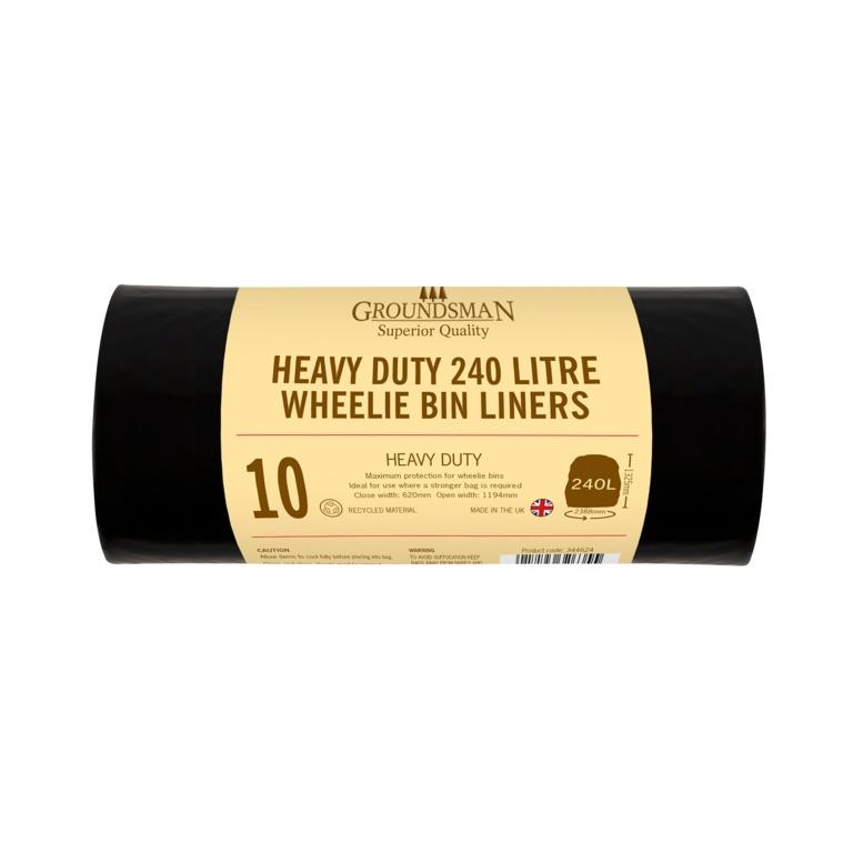 Groundsman Wheelie Bin Liners 240L - Pack 10