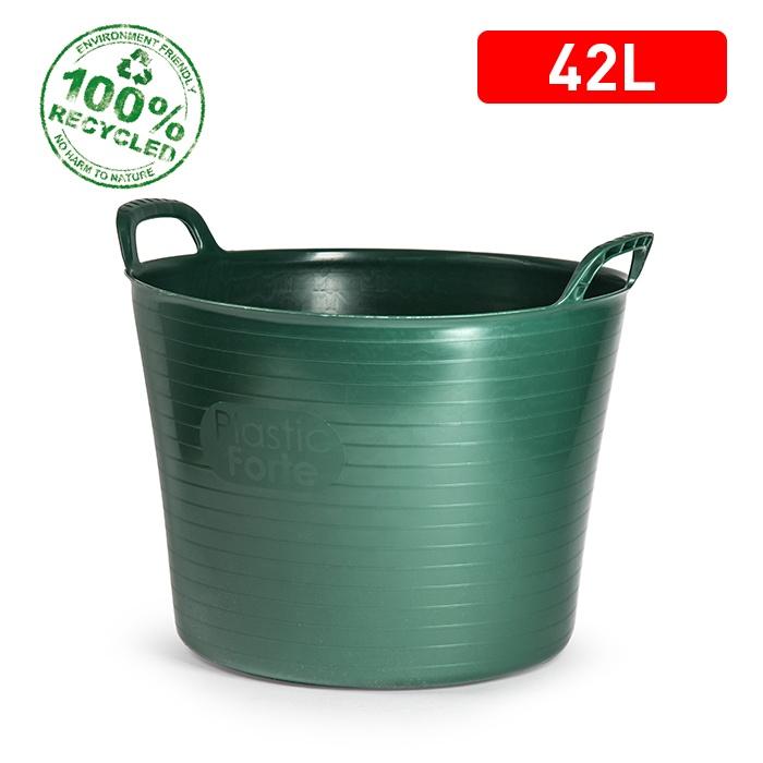 Plasticforte Recycled Flexi Tub - 42L - Green
