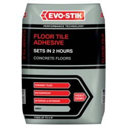 Evo-Stik Floor Tile Adhesive Fast Set For Concrete Floors