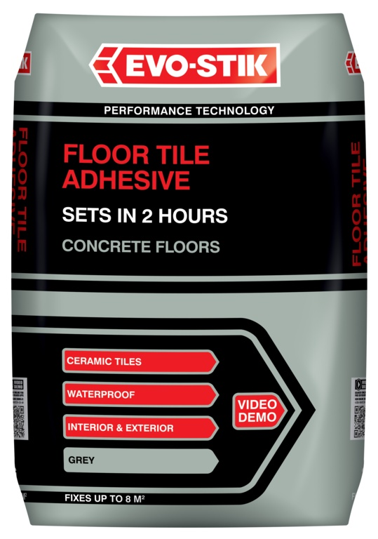 Evo-Stik Floor Tile Adhesive Fast Set For Concrete Floors - 20kg